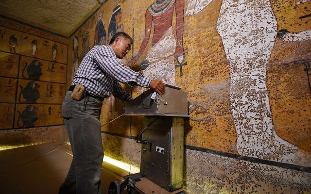 De nouveaux scans ont fait une découverte surprenante dans la tombe du roi Tut