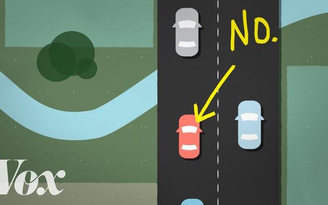 เหตุใดผู้ขับขี่ที่ช้ากว่าไม่ควรออกไปเที่ยวเลนซ้าย
