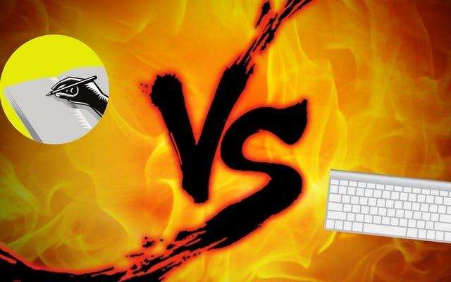 ジャーナリング対決:執筆とタイピング