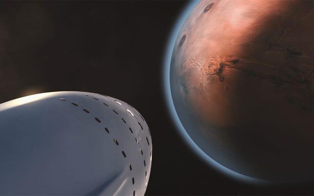 Come Elon Musk intende andare su Marte