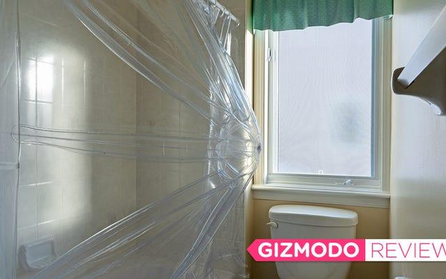 このインフレータブルカーテンは、浴槽を私の家で最も広々としたシャワーに変えました