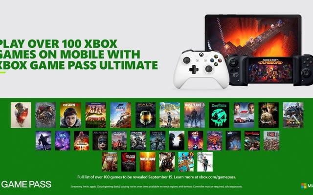 Вот 172 игры для запуска Xbox Cloud Gaming