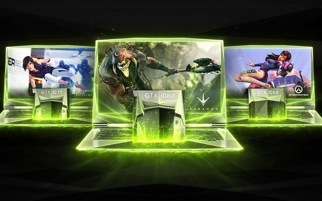 Les dernières cartes graphiques de bureau de Nvidia sont désormais ses dernières cartes graphiques pour ordinateur portable