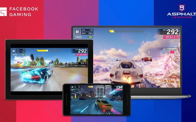 Новый облачный игровой сервис Facebook транслирует бесплатные мобильные игры