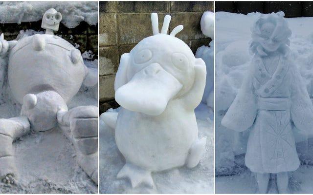ポケモンからスタジオジブリまで、ここに素晴らしい雪像があります