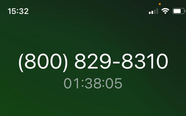 私はほぼ1時間40分間保留になりましたが、電話を切ることができず、私はホッピンマッドです
