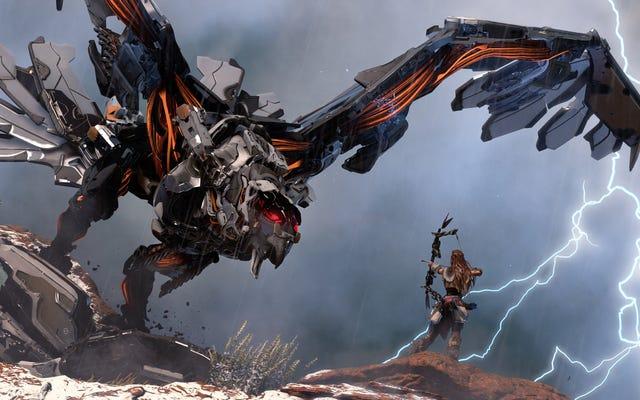 地平線:ゼロドーン、レビュー:ロボット恐竜のために来て、残忍な話のためにとどまる