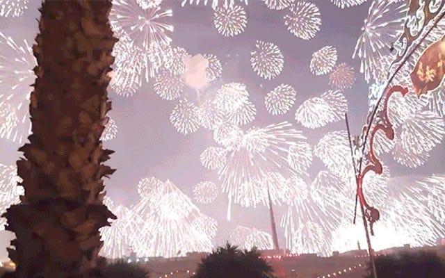 ホーリークラップ、この1つの巨大なお尻の花火が空全体を照らすのを見てください