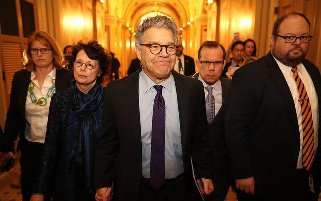 民主党のドナーは、アル・フランケンの辞任を促した議員からの支持を引き出すことを検討している