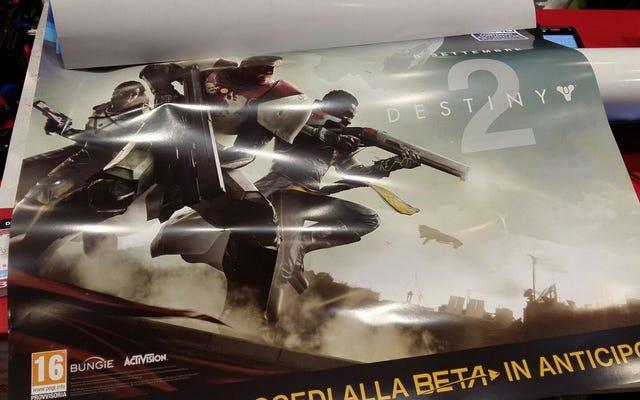 Hình ảnh rò rỉ cung cấp cái nhìn đầu tiên về Destiny 2, ra mắt vào tháng 9 này