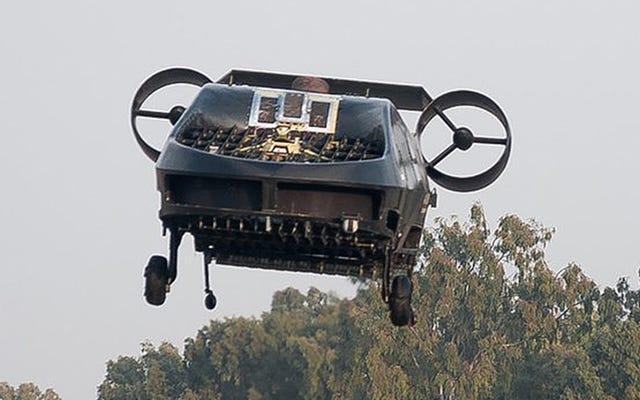 このトラックサイズのフライングマシンは、ヘリコプターが行けない場所に行くことができます