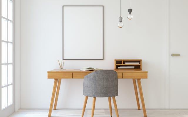 Agregue un poco de madera a su oficina en casa para aumentar la concentración y la satisfacción laboral