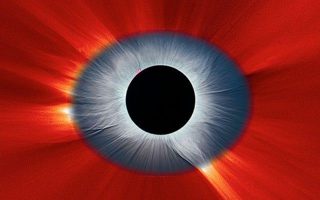 見事な日食画像は私たちの太陽系の目のように見えます