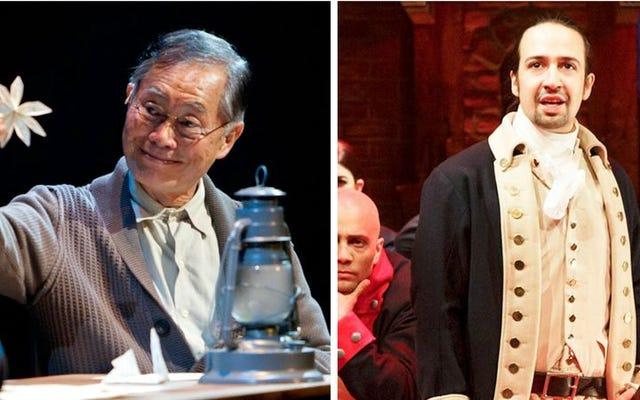 George Takei ve Lin-Manuel Miranda, Broadway'deki tarihi lensi değiştiriyor