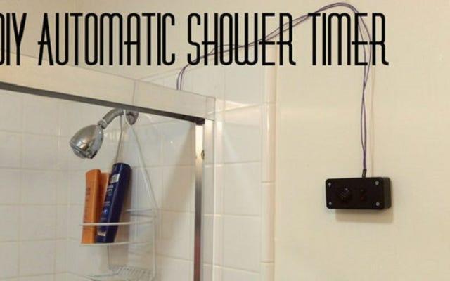 Bu DIY Otomatik Duş Zamanlayıcısı ile Zaman ve Sudan Tasarruf Edin