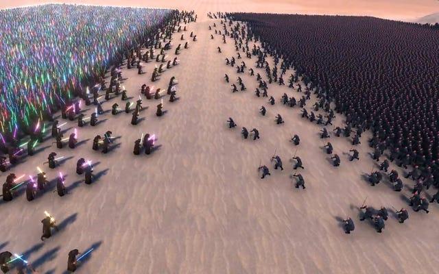 Obejrzyj 20000 bitew Jedi 20000 Sithów, aby w końcu zdecydować, kto rządzi galaktyką