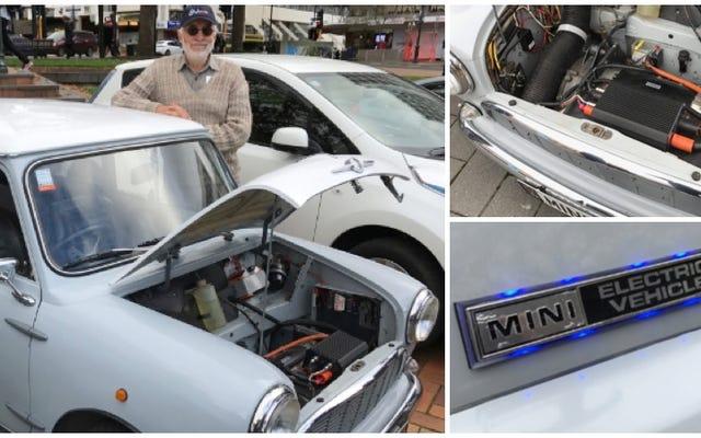 この男は'66ミニから自分の電気自動車を作りました... 20年前