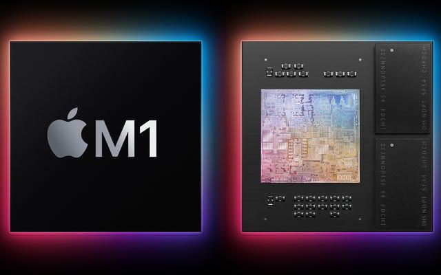Mac用の最初のApple設計チップであるM1をご覧ください