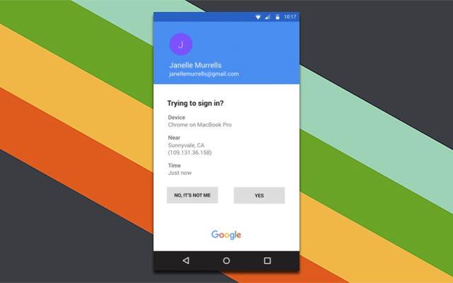L'autenticazione a due fattori con un tocco di Google mostrerà informazioni su chi sta effettuando l'accesso