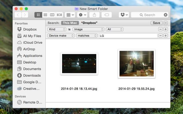 OS Xでスマートフォルダを使用して、すべての写真を1つの便利な場所に配置します