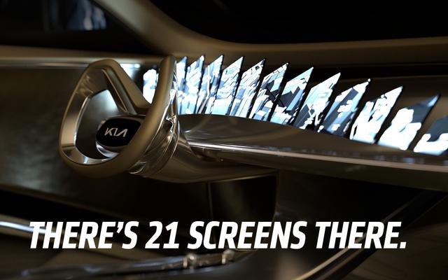 起亜の電気コンセプトには21のスクリーンがあります