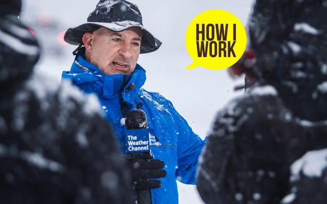 私は気象学者のジム・カントーレです。これが私の仕事のやり方です