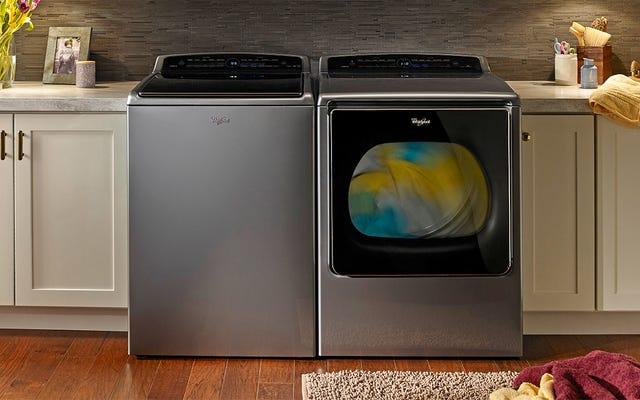 La nueva lavadora y secadora de Whirlpool reabastece automáticamente los detergentes con Amazon Dash