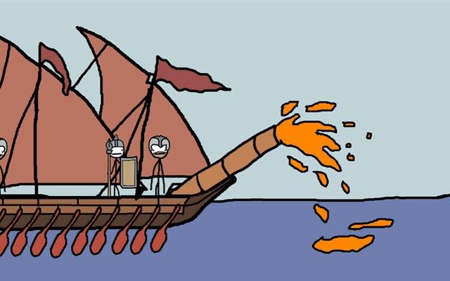 Một số vũ khí vô lý nhất mà họ sử dụng trong thời Trung cổ, được giải thích bằng phim hoạt hình