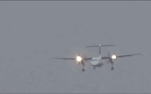 恐怖の1分半:これは、110 km / hの風で小さなツインエンジンターボプロップが着陸する方法です