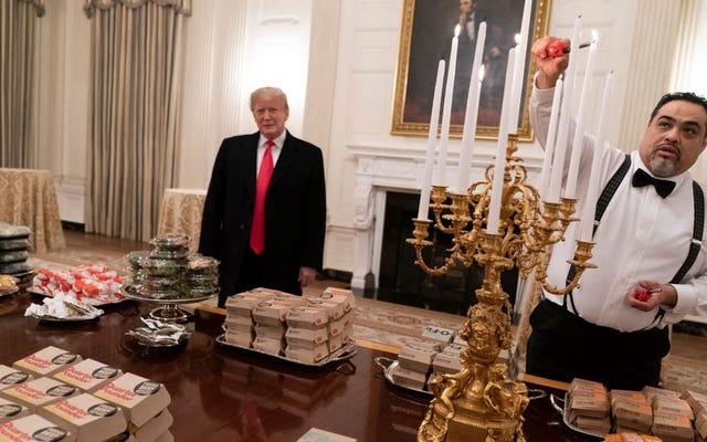 元シンプソンズの作家は、ハンバーガー大統領のファーストフードの犠牲を非難します