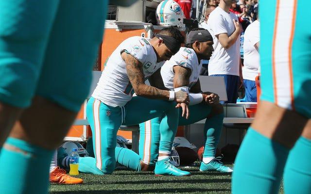 NFLのレシーバーであるケニー・スティルスが、マイアミ・ドルフィンズのオーナーであるスティーブン・ロスをトランプを愛する偽善者であると呼びかけた