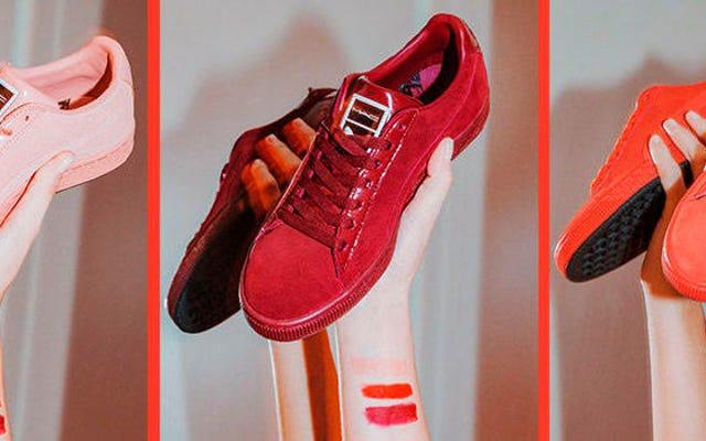PUMA ช่วยให้คุณจับคู่ริมฝีปากของคุณกับรองเท้าผ้าใบได้ด้วยการร่วมมือกับ MAC นี้