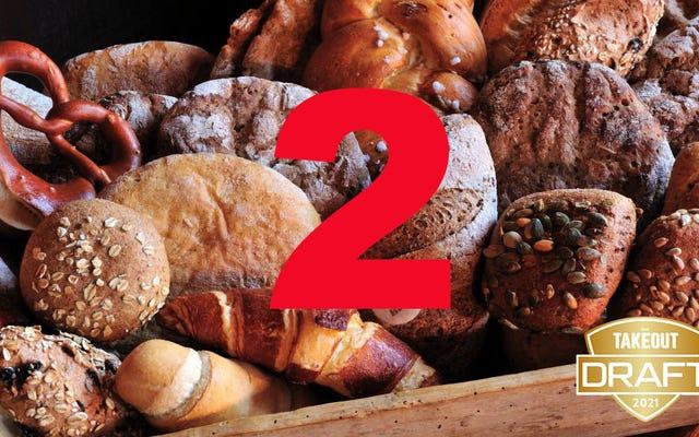 O rascunho de comida de fantasia do Takeout: Melhor pão, RODADA 2!