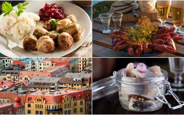 スウェーデン料理の60秒の紹介