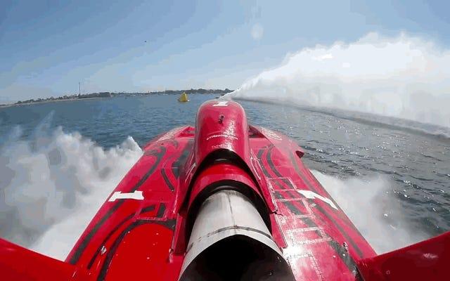 非常に危険な競争があり、それを試みた人の85%が死亡しました:水上でのスピード記録