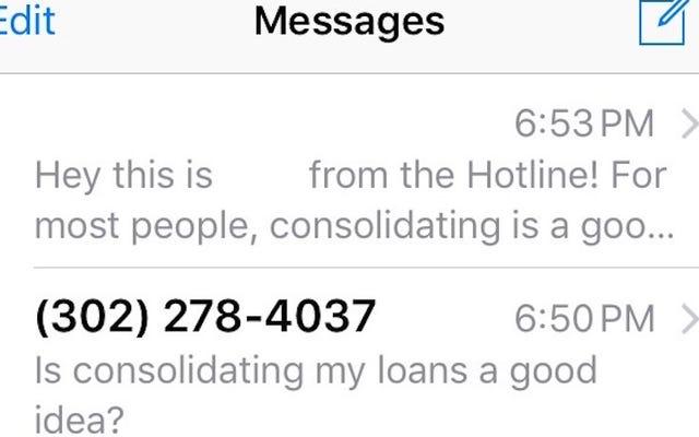 La ligne d'assistance financière de LendEDU répond à vos questions sur les prêts étudiants par SMS