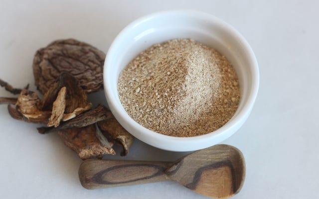 乾燥キノコでより良いトレーダージョーの「うま味パウダー」を作る