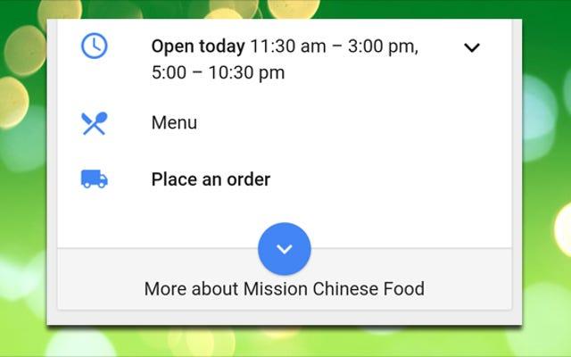 Googleから直接配達サービスから食品を注文する