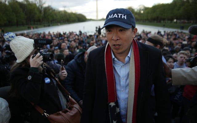 アンドリューヤンの大統領選挙でのミソジニーの報告は彼のニューヨーク市長の入札に影を落とす可能性がある