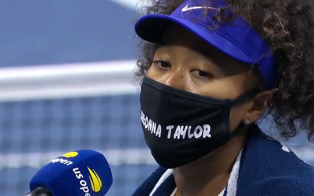 大坂なおみが全米オープンでマスクを持ったブレオナ・テイラーを称える、彼女はすぐに失うことはないので、さらに6つのマスクが並んでいます
