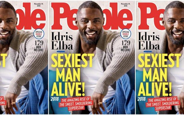 かしこまりました!ピープル誌の名前イドリスエルバ最もセクシーな男が生きている(そして水は濡れている)