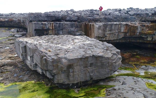 Aparentemente, las tormentas pueden empujar rocas de 600 toneladas alrededor