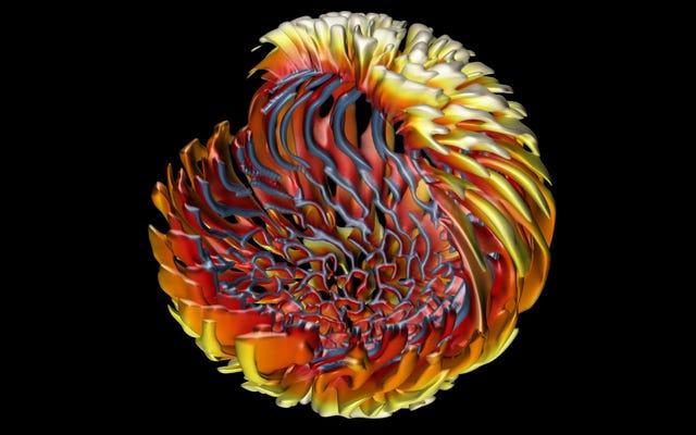 Zajrzyj do pięknego modelu wirującej gwiazdy