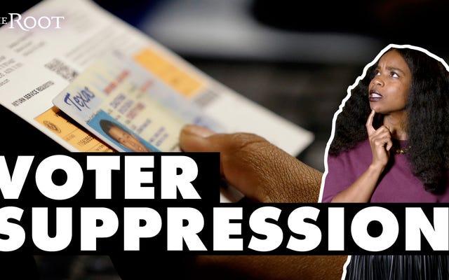 有権者の抑圧は現実であり、それは本当に黒人に影響を及ぼします