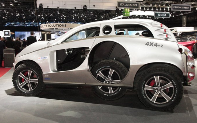 Sbarro 4x4 + 2, Porsche Cayenne'e Gerçekten Garip Bazı Şeyler Yaptığınızda Ne Olur?