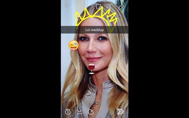 最後に、グウィネス・パルトロウがグープをSnapchatにもたらしています
