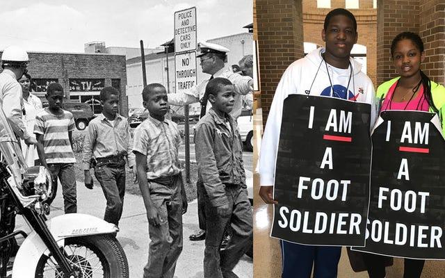 La première marche pour nos vies: les enfants de l'Alabama recréent la croisade des enfants de 1963