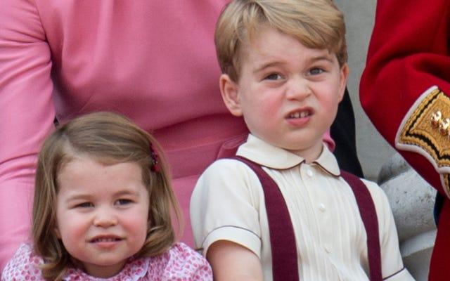 プリンスジョージは、派手な小さな食べ物を愛する派手な小さな若者です