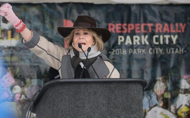 La protesta per tutta la vita Jane Fonda è stata arrestata a Washington per protesta contro il cambiamento climatico