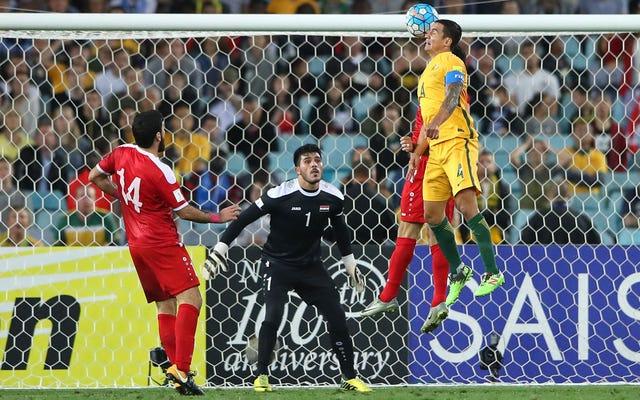 ティムケーヒルは、追加時間ヘッダーでワールドカップ予選からシリアを排除します